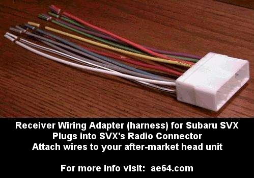 for sale: radio wiring harnesses for svx!! - the subaru svx world network  the subaru svx world network