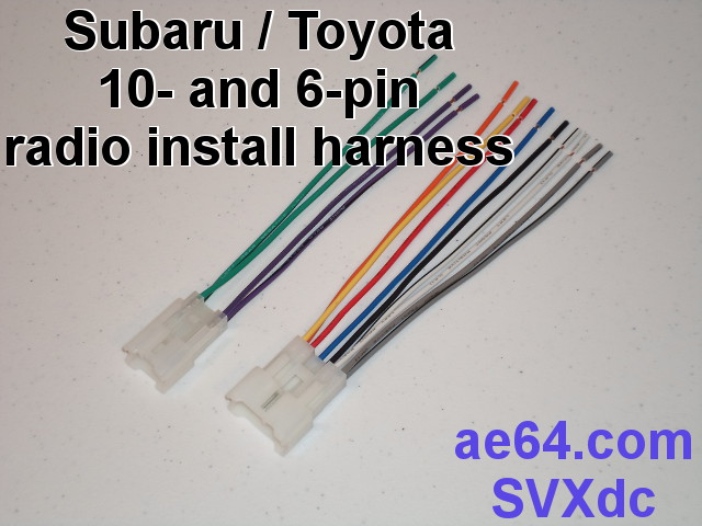 radio wiring adapter (harness) for subaru and toyota 4 Pin Relay Wiring picture of subaru 10 \u0026 6 pin radio installation adapter harness