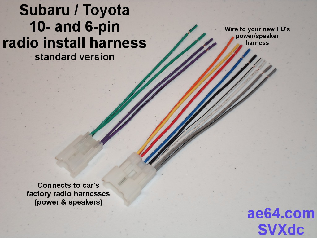 10 6 pin_forward radio wiring adapter (harness) for subaru and toyota  at bayanpartner.co