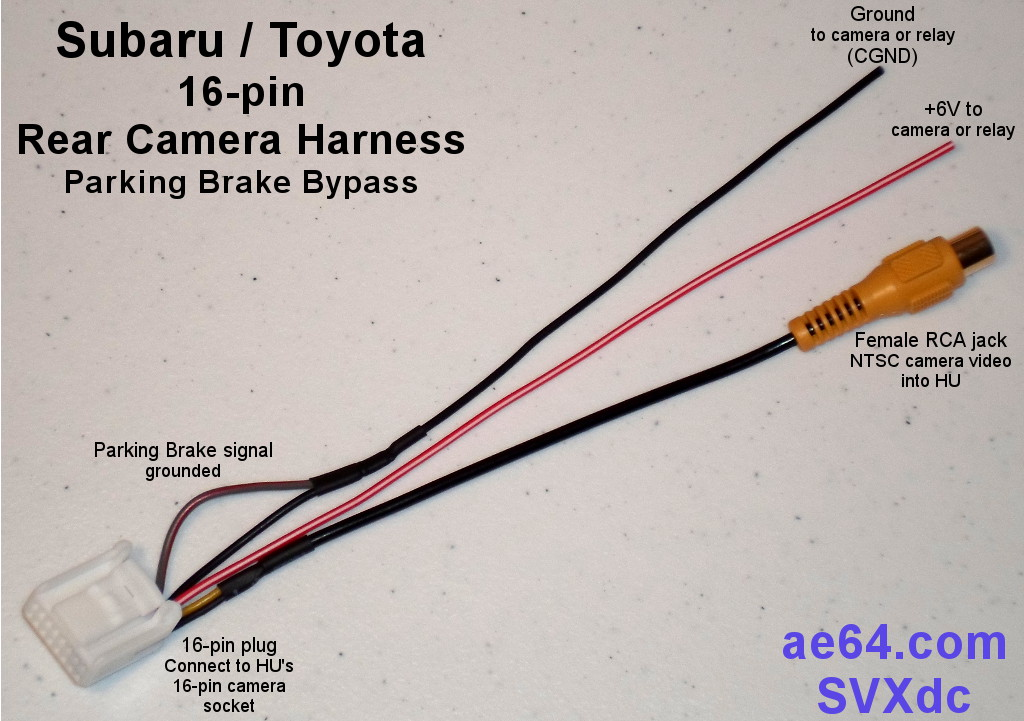 subaru 16 pin rear camera harness rh ae64 com