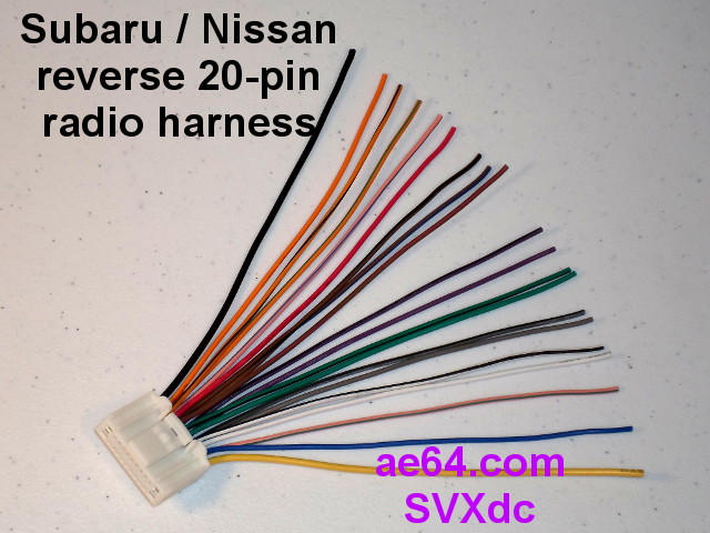 Reverse Radio Wiring Harness For Subaru And Nissan Factory