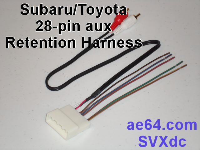 28 pin_aux_adapter m 28 pin aux swc retention harness for subaru, scion, and toyota Toyota Stereo Wiring Diagram at couponss.co
