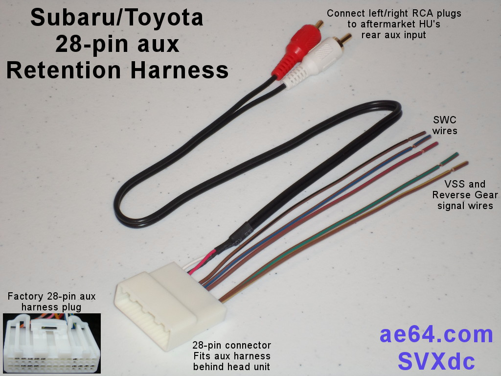 28 pin aux swc retention harness for subaru, scion, and toyota ford wiring harness connectors picture of subaru 28 pin aux retention harness