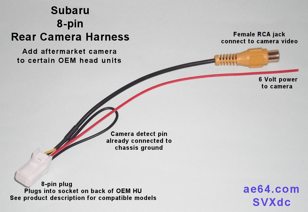 Subaru 8-pin Rear Camera Harness