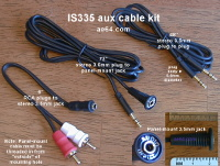 IS335 Aux Cable Kit with Panel Mount 3.5mm jack