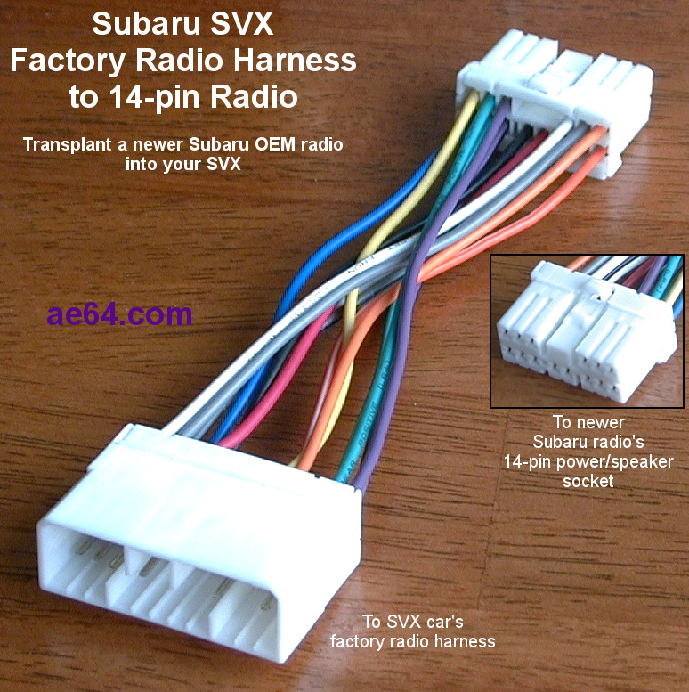 SVX_fwd_to_14 pin_rev_transplant harness ae64 com subaru radio wiring harnesses products prices subaru radio wiring harness adapter at edmiracle.co