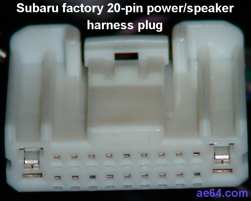 subaru 20 pin radio harness pin out subaru 20 pin factory radio harness plug