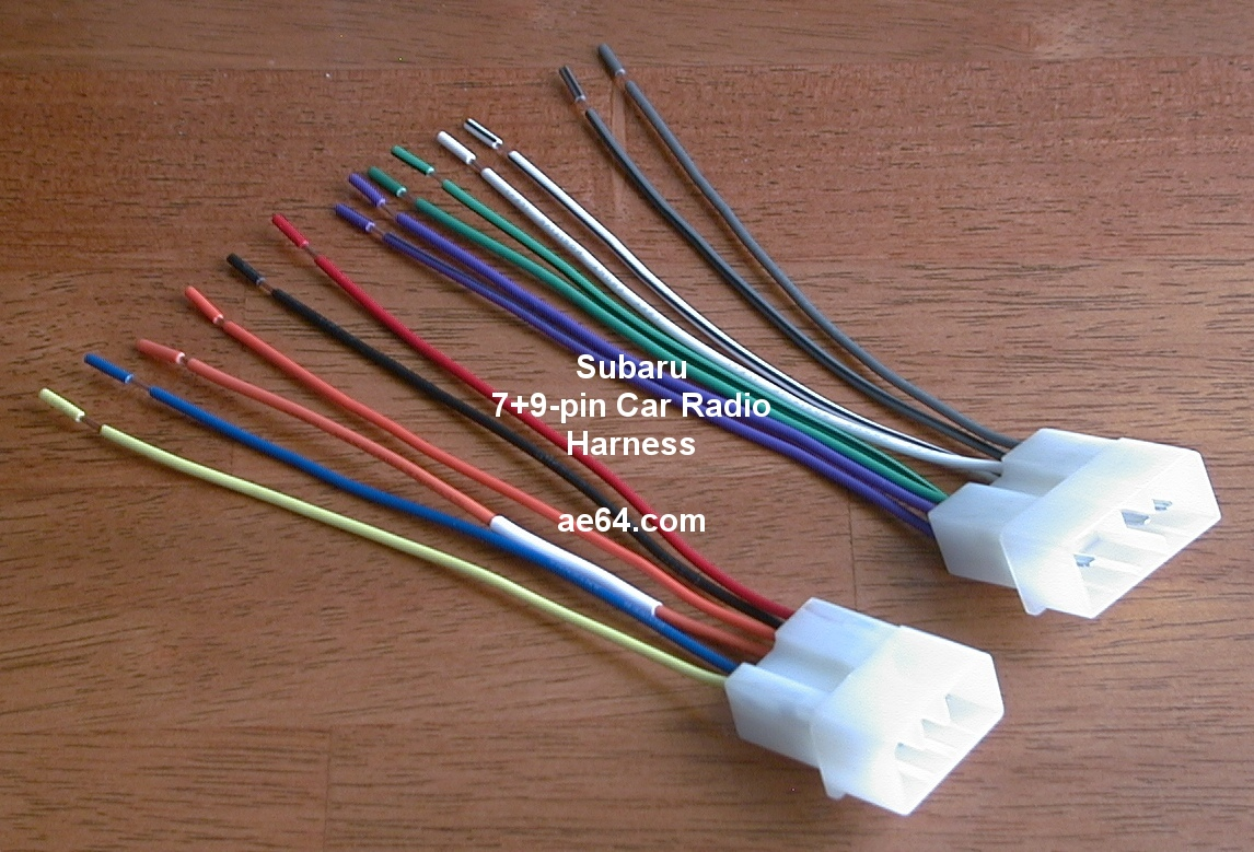 Subaru_7+9 pin_harness ae64 com subaru radio wiring harnesses products prices auto radio wire harness at crackthecode.co