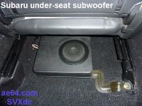 Subaru OEM under-seat subwoofer